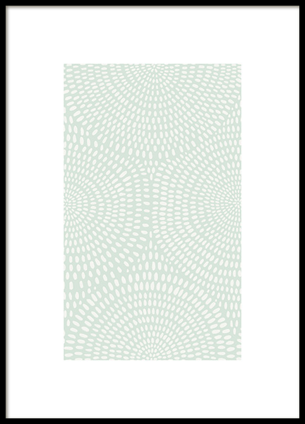 Green Dotted Pattern Poster in the group Posters & Prints / Graphical at Desenio AB (13975)