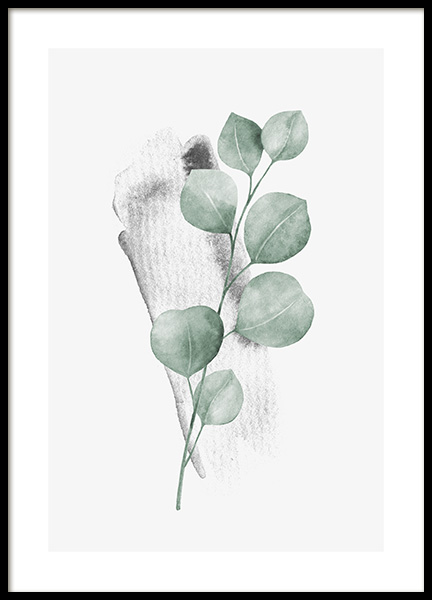 Watercolor Leaves No3 Poster in the group Posters & Prints / Botanical / Green plants at Desenio AB (13991)