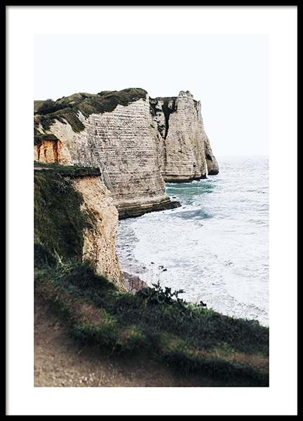 Étretat Clliffs Poster in the group Posters & Prints / Nature / Seas & Oceans at Desenio AB (14008)