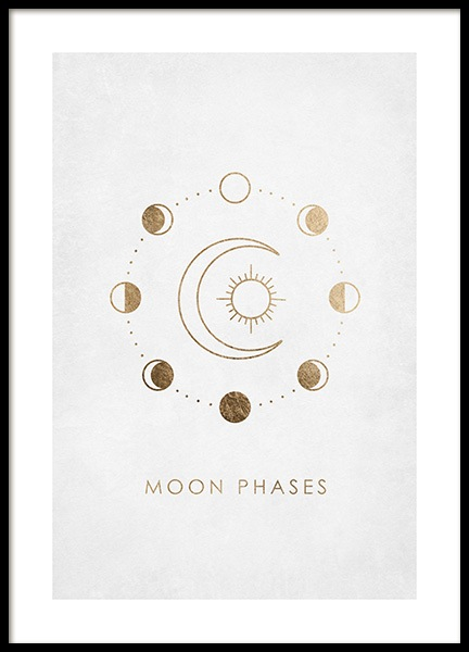 Moon Phases Poster in the group Posters & Prints / Space & astronomy at Desenio AB (14014)