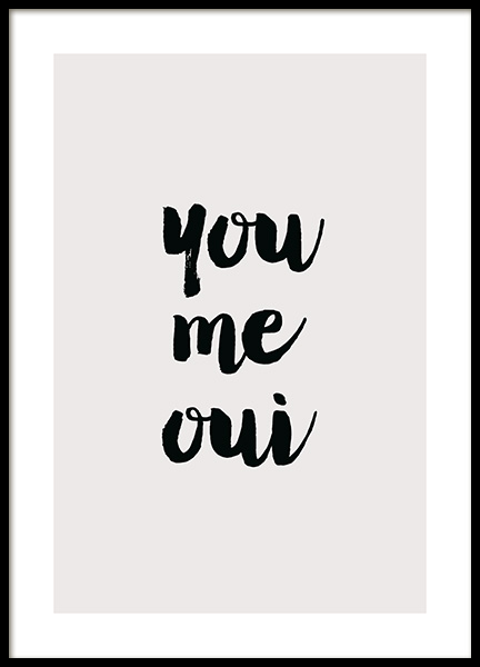 You Me Qui Poster in the group Posters & Prints / Text posters / Quote posters at Desenio AB (14034)