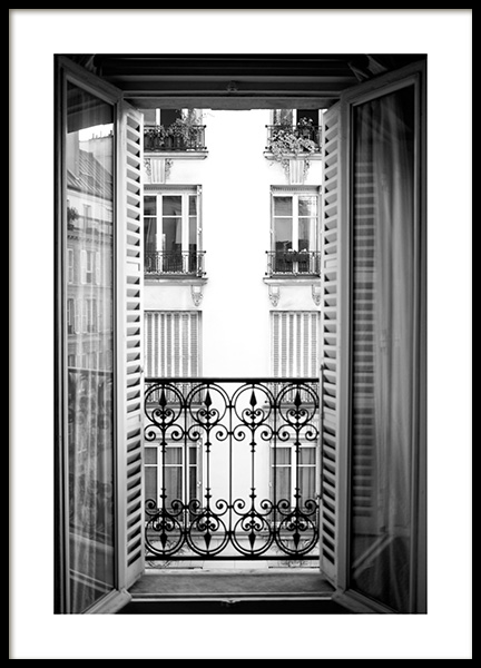 Parisian Balcony Poster in the group Posters & Prints / Photography / Architecture  at Desenio AB (14035)