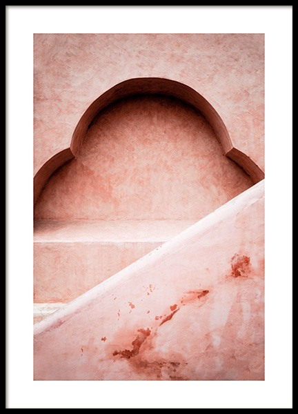 Pink Architecture Poster in the group Posters & Prints / Photography / Architecture  at Desenio AB (14043)