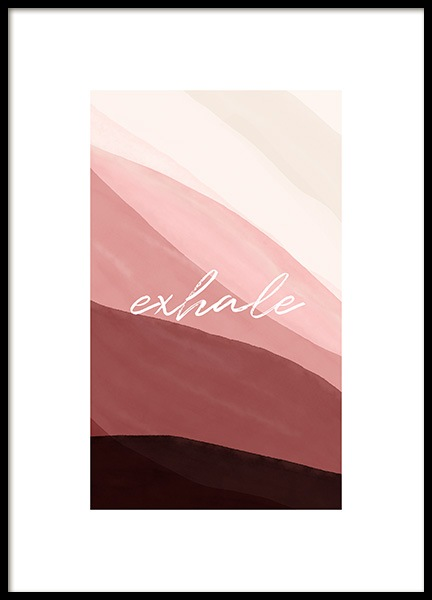 Exhale Poster in the group Posters & Prints / Art prints / Abstract wall art at Desenio AB (14118)