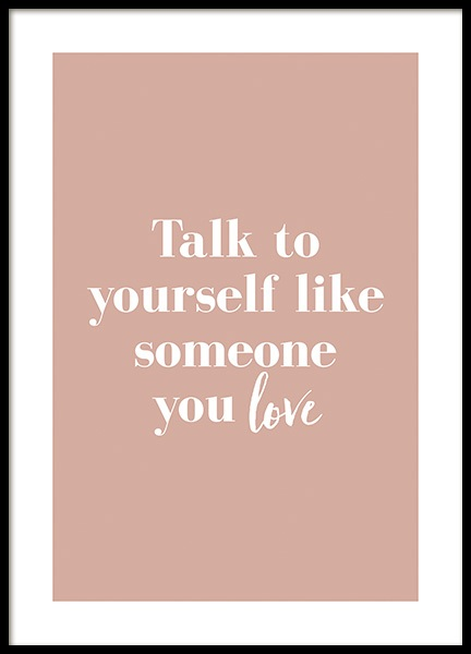 Like Someone You Love Poster in the group Posters & Prints / Text posters / Motivational at Desenio AB (14148)