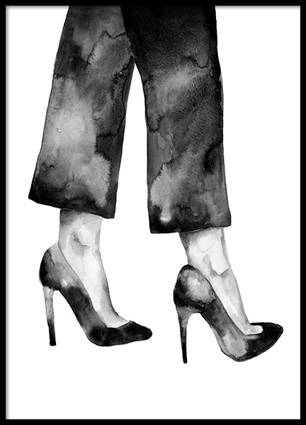 Watercolor Heels Poster in the group Posters & Prints / Art prints / Watercolor paintings at Desenio AB (14151)