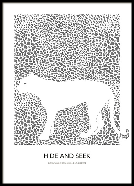 Hide and Seek No2 Poster in the group Posters & Prints / Kids posters / Animal illustrations at Desenio AB (14179)