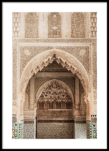 Temple of Marrakech No1 Poster in the group Posters & Prints / Photography at Desenio AB (14229)