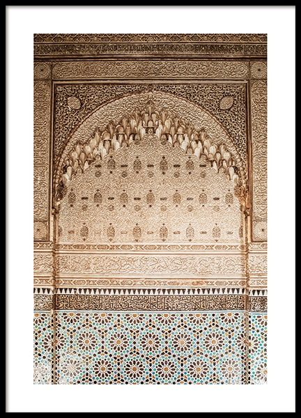 Temple of Marrakech No2 Poster