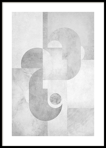 Grey Graphics No1 Poster in the group Posters & Prints / Art prints / Abstract wall art at Desenio AB (14251)