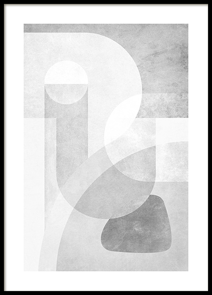 Grey Graphics No2 Poster in the group Posters & Prints / Art prints / Abstract wall art at Desenio AB (14252)