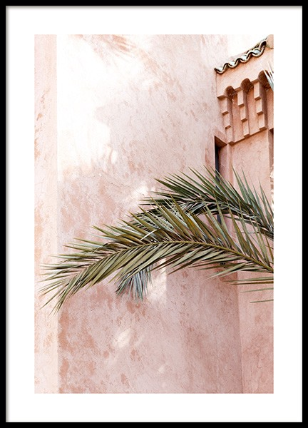 Chalk Pink Wall Poster in the group Posters & Prints / Botanical / Palms at Desenio AB (14265)