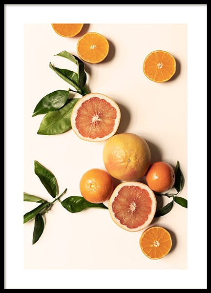 Fresh Citrus No1 Poster in the group Posters & Prints / Kitchen / Fruit & Vegetables at Desenio AB (14367)