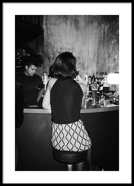 At the Bar Poster in the group Posters & Prints / Photography / Black & white photography at Desenio AB (14389)