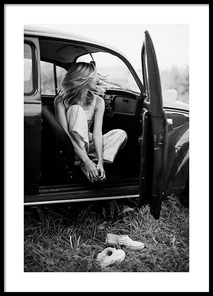 On the Road Poster in the group Posters & Prints / Photography / Black & white photography at Desenio AB (14392)
