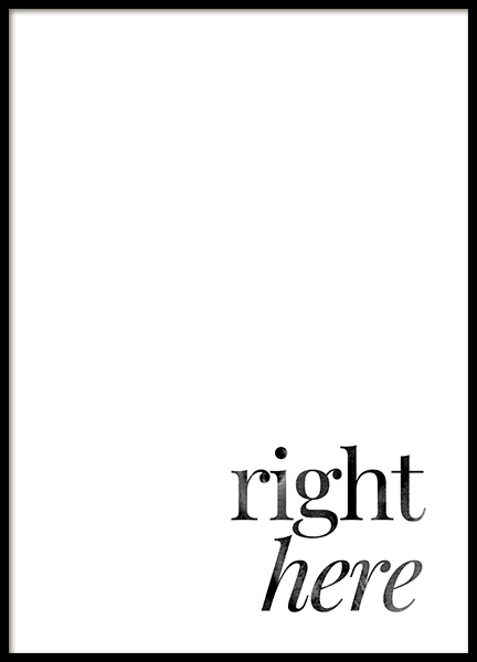 Right Here Poster in the group Posters & Prints / Text posters at Desenio AB (14395)