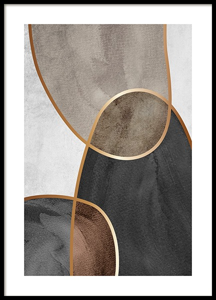 Golden Seams No2 Poster in the group Posters & Prints / Gold & silver at Desenio AB (14408)