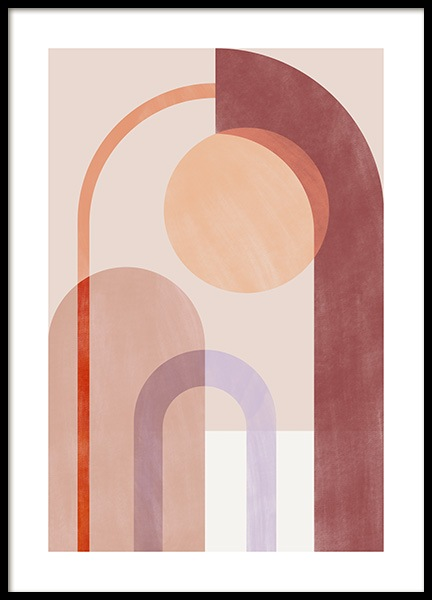 Geometric Color Play No1 Poster in the group Posters & Prints / Graphical at Desenio AB (14431)