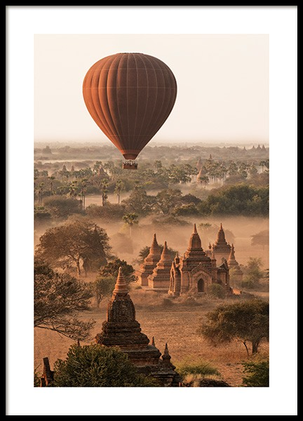 Balloon Over Bagan Poster in the group Posters & Prints / Nature at Desenio AB (14441)
