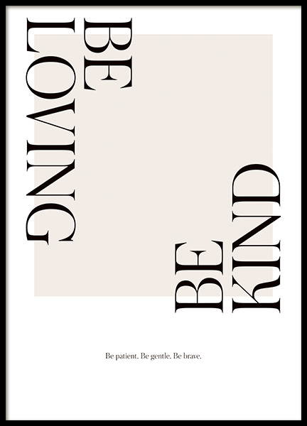 Be Loving Poster in the group Posters & Prints / Text posters / Typography at Desenio AB (14455)