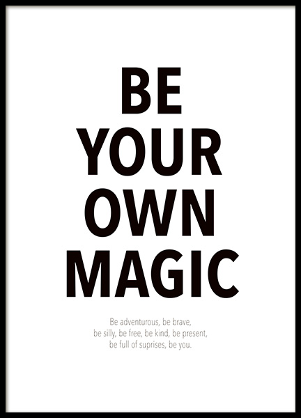 Your Own Magic Poster in the group Posters & Prints / Text posters / Motivational at Desenio AB (14458)