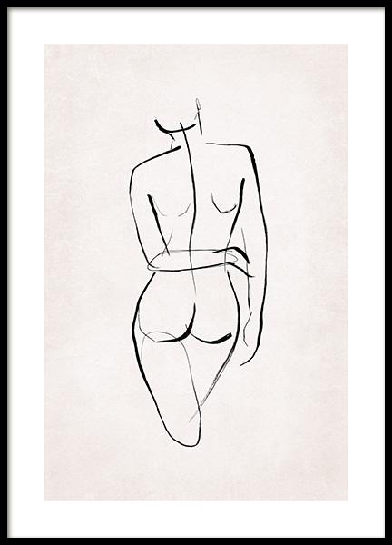 Female Sketch No1 Poster