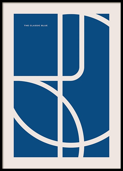 The Classic Blue Poster in the group Posters & Prints / Graphical at Desenio AB (14556)