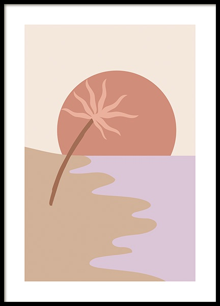 Palm by the Bay Poster in the group Posters & Prints / Graphical at Desenio AB (14565)