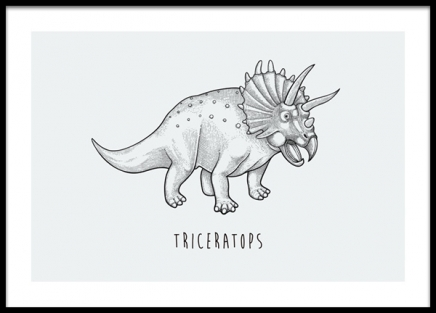 Triceratops Poster in the group Posters & Prints / Kids posters / Animal illustrations at Desenio AB (14585)