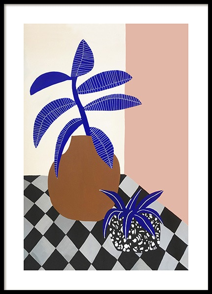 Blue Plants Poster in the group Posters & Prints / Kitchen / Fruit & Vegetables at Desenio AB (14619)
