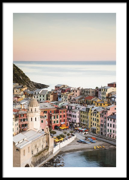 Vernazza Sunset Poster in the group Posters & Prints / Photography at Desenio AB (14645)
