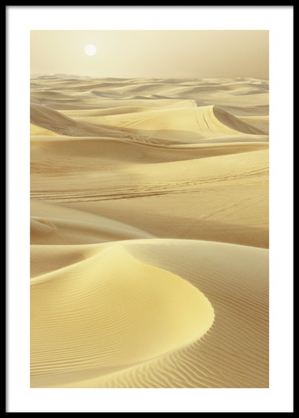Yellow Desert Poster in the group Posters & Prints / Nature at Desenio AB (14653)