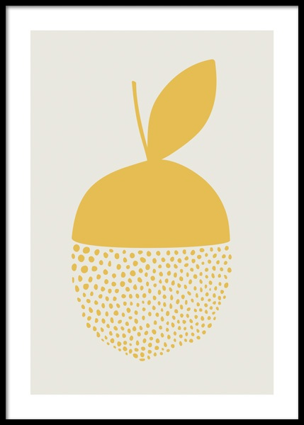 Yellow Dotted Citrus Poster in the group Posters & Prints / Illustrations at Desenio AB (14656)