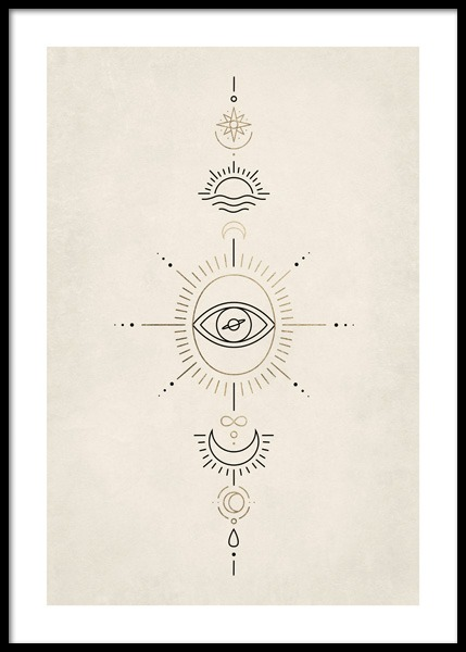 Spiritual Signs Poster in the group Posters & Prints / Illustrations at Desenio AB (14688)