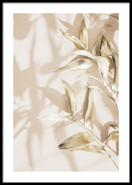 Gold Leaves No2 Poster