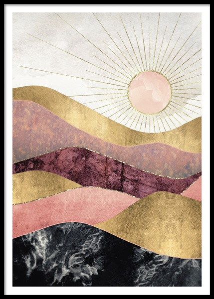 Blush Sun Poster in the group Posters & Prints / Illustrations at Desenio AB (14741)