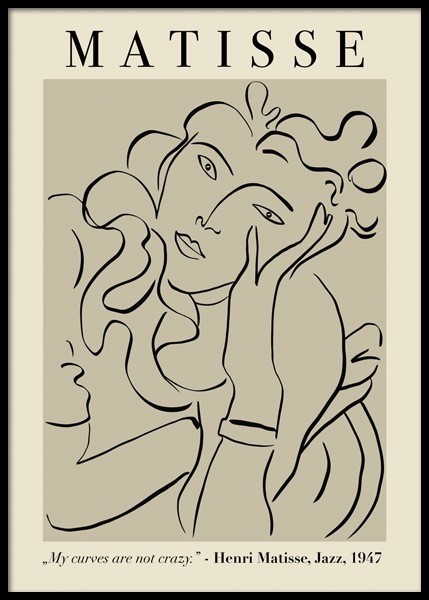 Matisse Inspired Woman Poster