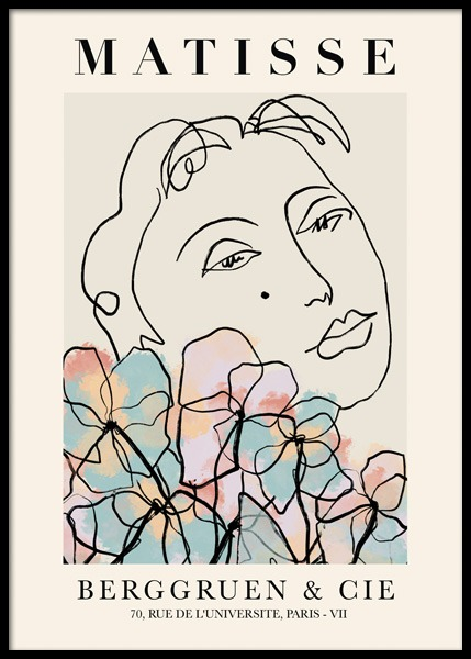 Matisse Inspired Floral Poster