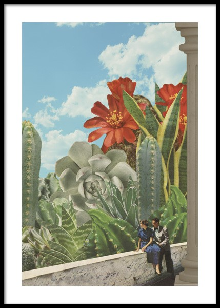 Cactus World Poster in the group Posters & Prints / Botanical / Cacti at Desenio AB (14754)