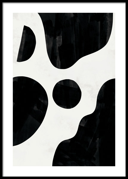 Black Abstract No1 Poster in the group Posters & Prints / Art prints at Desenio AB (14771)