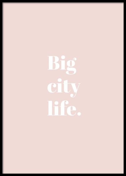 Big City Life Poster in the group Posters & Prints / Text posters at Desenio AB (14776)