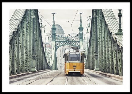 Budapest Tram Poster in the group Posters & Prints / Maps & cities at Desenio AB (14779)