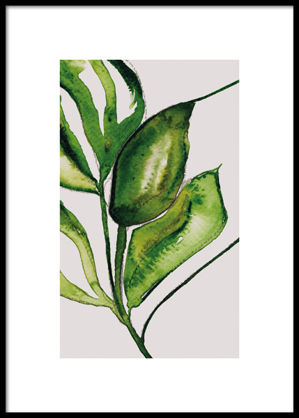 Lush Watercolor No2 Poster in the group Posters & Prints / Botanical at Desenio AB (14788)