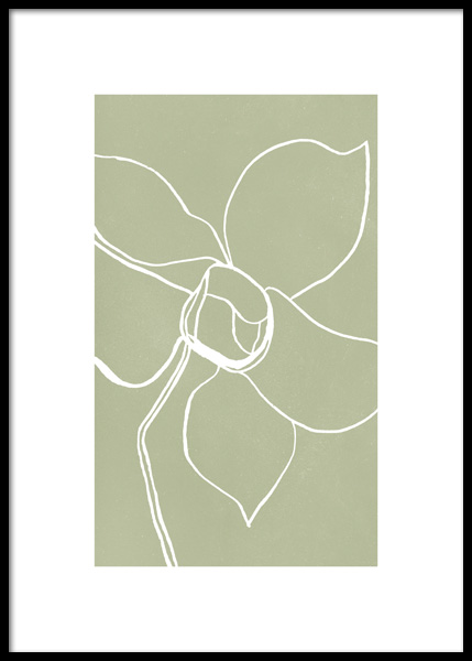 Plant Outlines No2 Poster in the group Posters & Prints / Botanical at Desenio AB (14792)