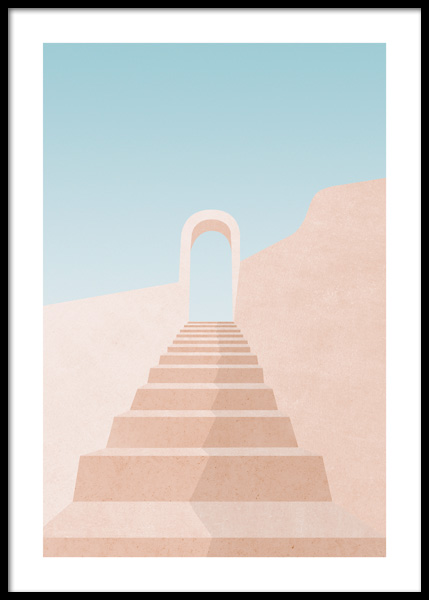 Graphic Staircase Poster in the group Posters & Prints / Graphical at Desenio AB (14814)