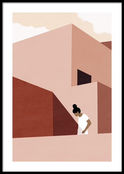 Modernist Villa No1 Poster in the group Posters & Prints / Graphical at Desenio AB (14815)