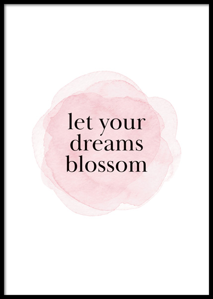 Blossom Dream Poster in the group Posters & Prints / Text posters / Quote posters at Desenio AB (14818)