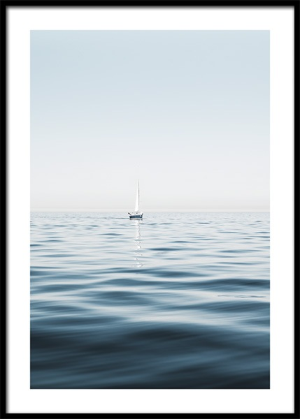 Sails On The Surface Poster in the group Posters & Prints / Nature / Seas & Oceans at Desenio AB (14825)