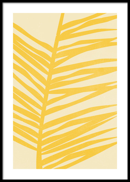 Yellow Palm Illustration Poster in the group Posters & Prints / Graphical at Desenio AB (14841)