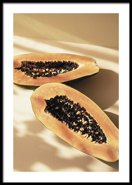 Papayas In The Sun Poster in the group Posters & Prints / Kitchen / Fruit & Vegetables at Desenio AB (14858)